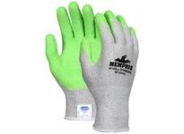MCR 9672HVGXXL Memphis Dyneema 13 Gauge Salt/Pepper Dyneema Green Crinkle Latex Coated Palm/Fingers
