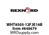 REXNORD WHT8505-12F3E16B WHT8505-12 F3 T16P N.75 WHT8505 12 INCH WIDE MATTOP CHAIN W