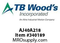 TBWOODS AJ40A218 AJ40-AX2 1/8 FF COUP HUB