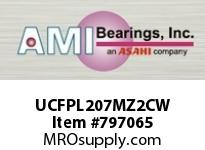 AMI UCFPL207MZ2CW 35MM ZINC WIDE SET SCREW WHITE 4-BO COV SINGLE ROW BALL BEARING