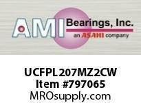 AMI UCFPL207MZ2CW 35MM ZINC WIDE SET SCREW WHITE 4-BO COV SINGLE ROW BALL BEARING