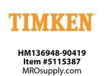 TIMKEN HM136948-90419 TRB 2-Row AP Assembly Class G