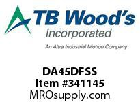 TBWOODS DA45DFSS REPAIR KIT DBL DA/DP SS DISC