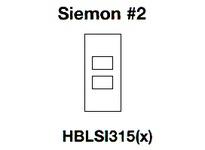 HBL-WDK HBLSI315SI FACEPLATE SCREW MT SIEMON #2 IV