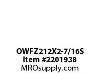 PTI OWFZ212X2-7/16S 2-BOLT PILOTED FLANGE BEARING-2-7/1 OWFZ 200 GOLD SERIES - NORMAL DUTY