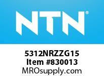 NTN 5312NRZZG15 DOUBLE ROW ANGULAR CONTACT