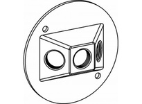 Orbit RC-3-W 4^ ROUND W/P COVER 3 1/2^ THREAD HOLES W