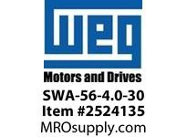 WEG SWA-56-4.0-30 SWA SERVO MTR 5.7A VFD - CFW