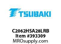 US Tsubaki C2062HSA28LRB C2062H RIV 8L/SA-2