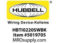 HBL_WDK HBTI0220SWBK WBPRFRM RADI INTER 2Hx20WBLACKSTLWLL