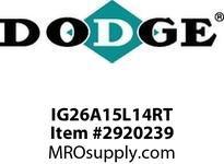 DODGE IG26A15L14RT 26A15L14 TIGEAR-2 RED W/ ROTEX 24 GPLG GEAR PRODUCTS