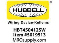 HBL_WDK HBT450412SW WBPRFRM RADI 45 4Hx12W PREGALVSTLWLL