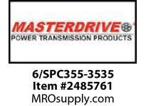 MasterDrive 6/SPC355-3535 6 GROOVE SPC SHEAVE