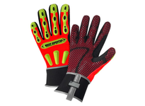 West Chester 86711/XL Winter R2 Safety Pro Series Rugged Rigger: 40g Thinsulate & Enprotex Waterproof Lining Pinch reducing fingertips Kevlar reinforced thumb oil resistant palm great RED grip & extended neoprene cuff - Orange Fabric