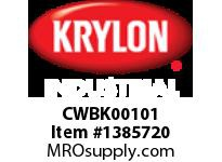 KRY CWBK00101 Industrial ColorWorks Enamel Flat Black Krylon 16oz. (6)