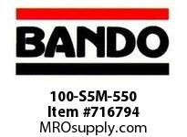 Bando 100-S5M-550 SYNCHRO-LINK STS TIMING BELT NUMBER OF TEETH: 110 WIDTH: 10 MILLIMETER