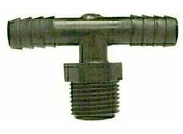 MRO 33450W 3/8X1/4 HBXMIP WHT NYLN BRANCH T (Package of 10)