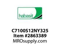 Habasit C7100S12NY325 7100K0325 Sprocket 12T Machined Nylon