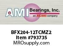 AMI BFX204-12TCMZ2 3/4 ZINC NARROW SET SCREW TEFLON 2- SINGLE ROW BALL BEARING
