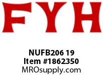 FYH NUFB206 19 CONCENTRIC LOCK THREE BOLT FLANGE U