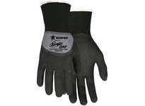 MCR N96793XXL Ninja BNF 15 Gauge Gray Nylon/Spandex Shell Black Breathable Nitrile Foam (BNF) Over-the-knuckle Coated