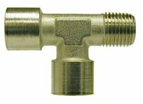 MRO 28950 1/2X1/2X1/2 BRASS MALE RUN BSPP