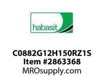 "Habasit C0882G12H150RZ1S 882-12T X 1-1/2"" Split Sprocket with Keyway and Setscrew"