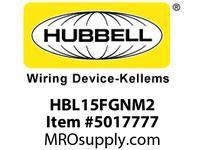 HBL_WDK HBL15FGNM2 SINGLE POLE SER 15 FEM PLUG 150A GN