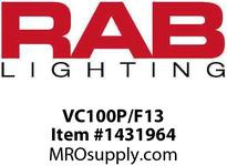 RAB VC100P/F13 VAPORPROOF 13W CFL 120V CEILING WITH PERMAGLOBE