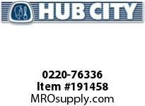 HUBCITY 0220-76336 SS265 60/1 A WR 143TC 1.250 SS WORM GEAR DRIVE