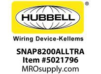 HBL_WDK SNAP8200ALLTRA S-CONNECT DUP HG 15A/125V LED TR AL
