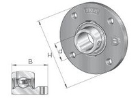 INA PMEY35 Four-bolt piloted flanged unit