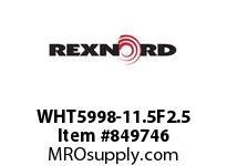 REXNORD WHT5998-11.5F2.5 WHT5998-11.5 F2.5 T4P WHT5998 11.5 INCH WIDE MATTOP CHAIN
