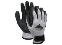 MCR 9688VXL FlexPlus 10 Gauge Gray Cotton/Poly Shell Black Latex Dipped Palm/Fingertips