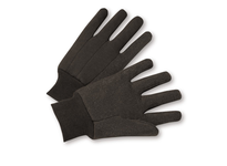 West Chester KBJ9PDI Knit Wrist 10 oz Dotted Brown Jersey Glove - Poly/Cotton - Premium - Mens