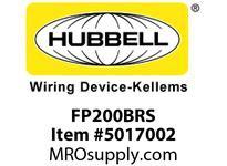 HBL_WDK FP200BRS 2^ FF PLUG BRASS