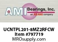 AMI UCNTPL201-8MZ2RFCW 1/2 ZINC SET SCREW RF WHITE TAKE-UP COVERS SINGLE ROW BALL BEARING