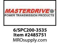 MasterDrive 6/SPC200-3535 6 GROOVE SPC SHEAVE