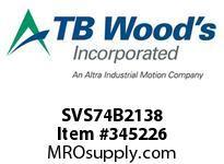 TBWOODS SVS74B2138 SVS-74-B2X1 3/8 ADJ SHEAVE