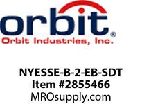 Orbit NYESSE-B-2-EB-SDT LED NY SURF EDGE-LIT EXIT SIGN BLK TRM2FBAT B-UP S DIAG