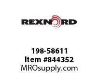 REXNORD 198-58611 BEARING HEAD 1-1/2IN PIPE