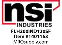 NSI FLH200IND120SF 200 WATT INDUCTION FLOOD 120V SLIP FITTER MOUNT