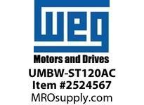 WEG UMBW-ST120AC MCB SHUNT TRIP 1NC/1NO 120VAC Miniature CB