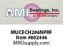 AMI MUCECH206NPRF 30MM STAINLESS SET SCREW RF NICKEL SINGLE ROW BALL BEARING