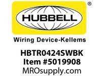 HBL_WDK HBTR0424SWBK WBPRFRM RADI 90 4Hx24W BLACKSTLWLL