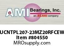 AMI UCNTPL207-23MZ20RFCEW 1-7/16 KANIGEN SET SCREW RF WHITE T OPN/CLS COVERS SINGLE ROW BALL BEARING