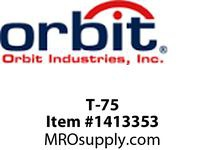 Orbit T-75 TYPE T THREADED CONDUIT BODY 3/4^