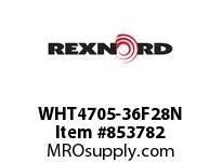 REXNORD WHT4705-36F28N WHT4705-36 F2 T8P N2.875 WHT4705 36 INCH WIDE MATTOP CHAIN W