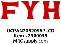 FYH UCPAN20620S6PLCD 1 1/4 TAP BASE CLSD + SPCL. OPEN COVER