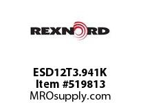 REXNORD ESD12T3.941K HS730-12T DR 3-15/16 W/KW 135558